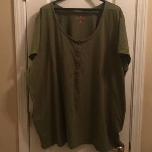 woman within button front tee